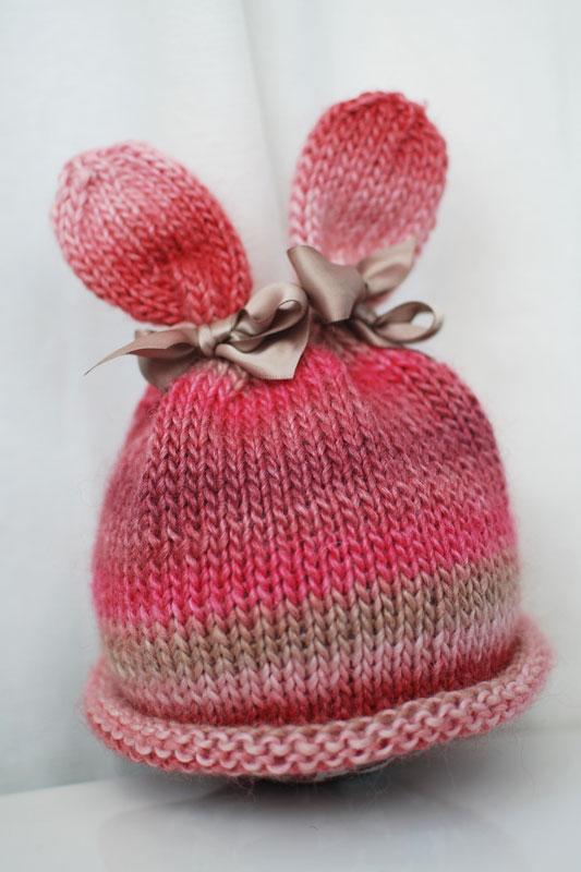 Knitting Pattern Rabbit Hat : Bunny Hat - Little Acorn