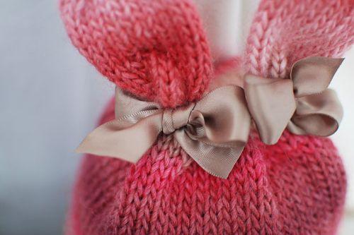 Bunny Hat Little Acorn. Bunny Rabbit Knitting Patterns ... ce4aa11ea
