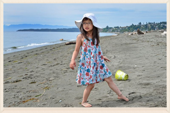 Adeline at the beach
